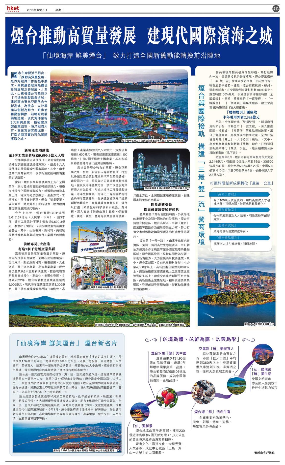 香港经济日报版面1