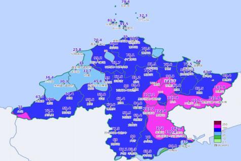 图2 10日20时至12日12时降水实况图